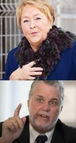 La Castafiore 1er ministre du Quebec et Couillard chef de l'opposition PLQ
