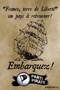 """Parti Pirate """"France, terre de liberte"""" un pays a retrouver!"""