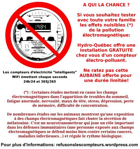 Compteur electricite Hydro-Quebec electro-polluant