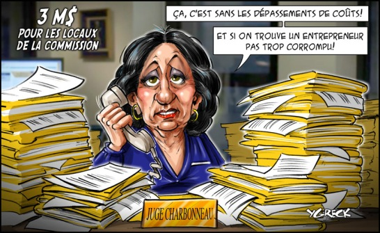 couts commission Charbonneau