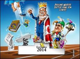 Podium Election 2014 Quebec - Marois battue