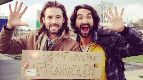 Optimistic Travelers:  Milan Bihkmann (Berlin) & Muammer Yilmaz (Strasbourg)