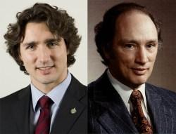 justin & pierre Trudeau