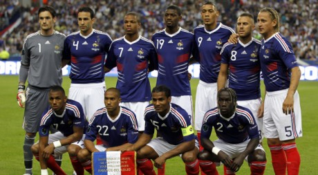L'équipe de France de football, le 3 septembre 2010
